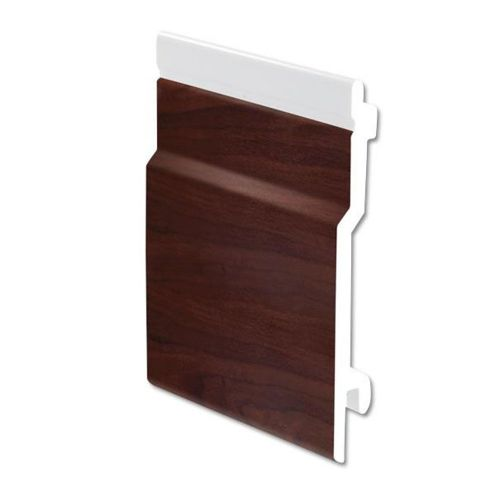 External Open V Cladding uPVC Rosewood 100mm